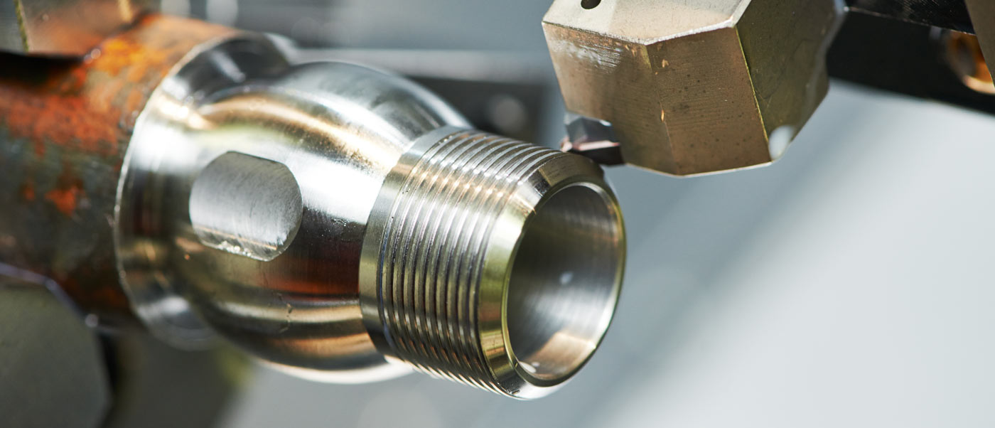 machining cutting out metal part